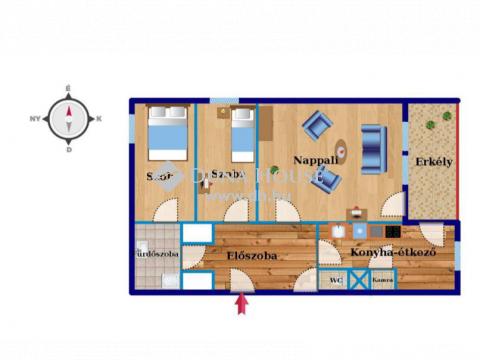 Eladó Lakás, Vas megye, Körmend - Batók Béla ltp.-n, II. emeleti, 3 szobás lakás