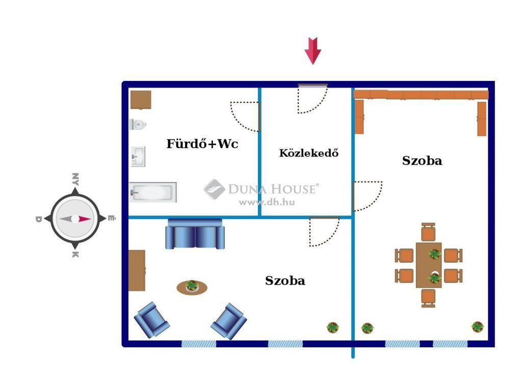 Eladó Lakás, Zala megye, Nagykanizsa - Eladó kitűnő állapotú két szobás lakás Nagykanizsa impozáns épületében!